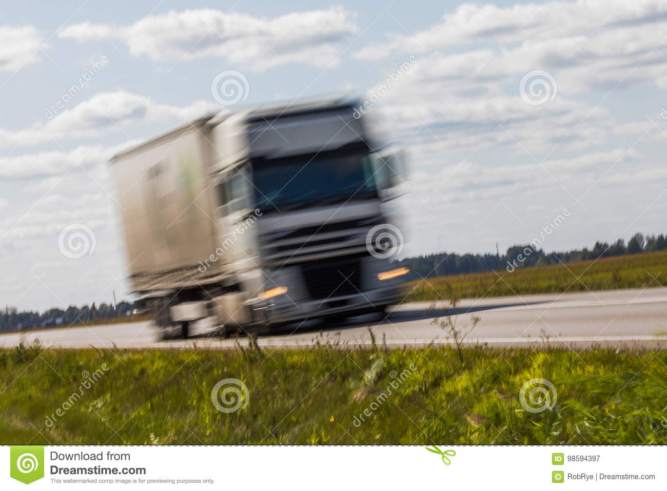 Truck Transport On The Road With Motion Blur Blurred Image Background Colorful Wallpaper Copy Space