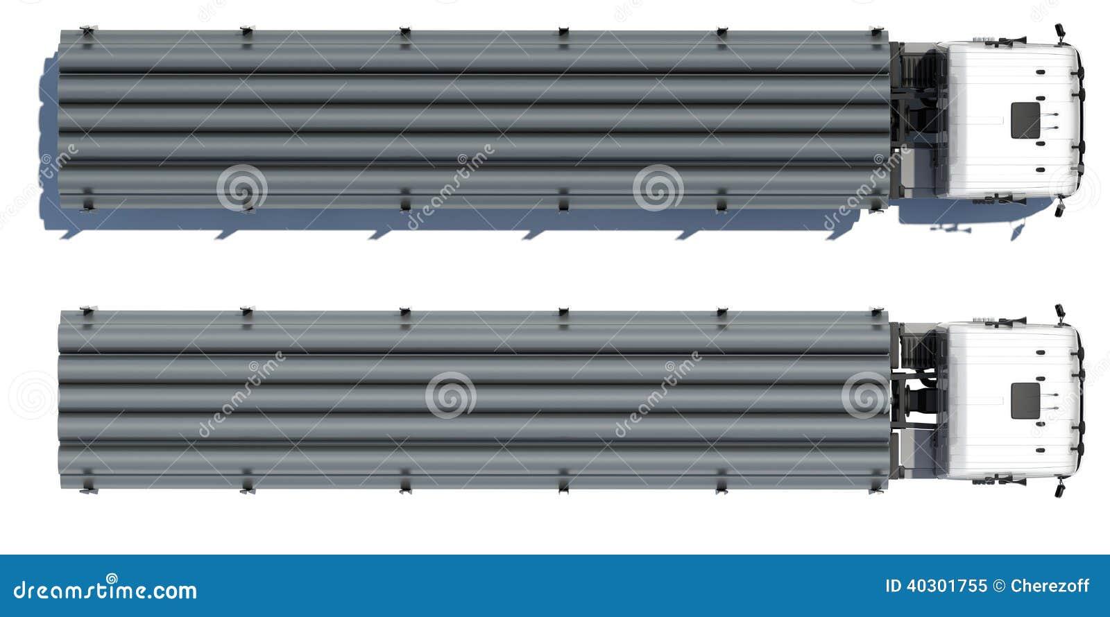 Truck transporting pipe stock illustration. Illustration of truck ...