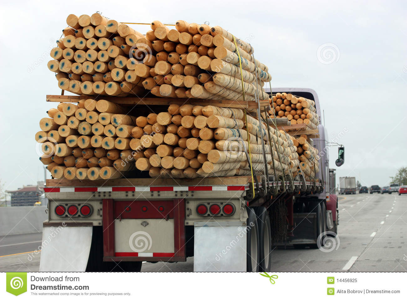 Truck Transporting Wood Royalty Free Stock Photo - Image: 14456925