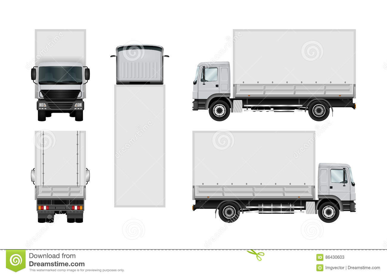 truck vector template stock vector illustration of cutout 86430603