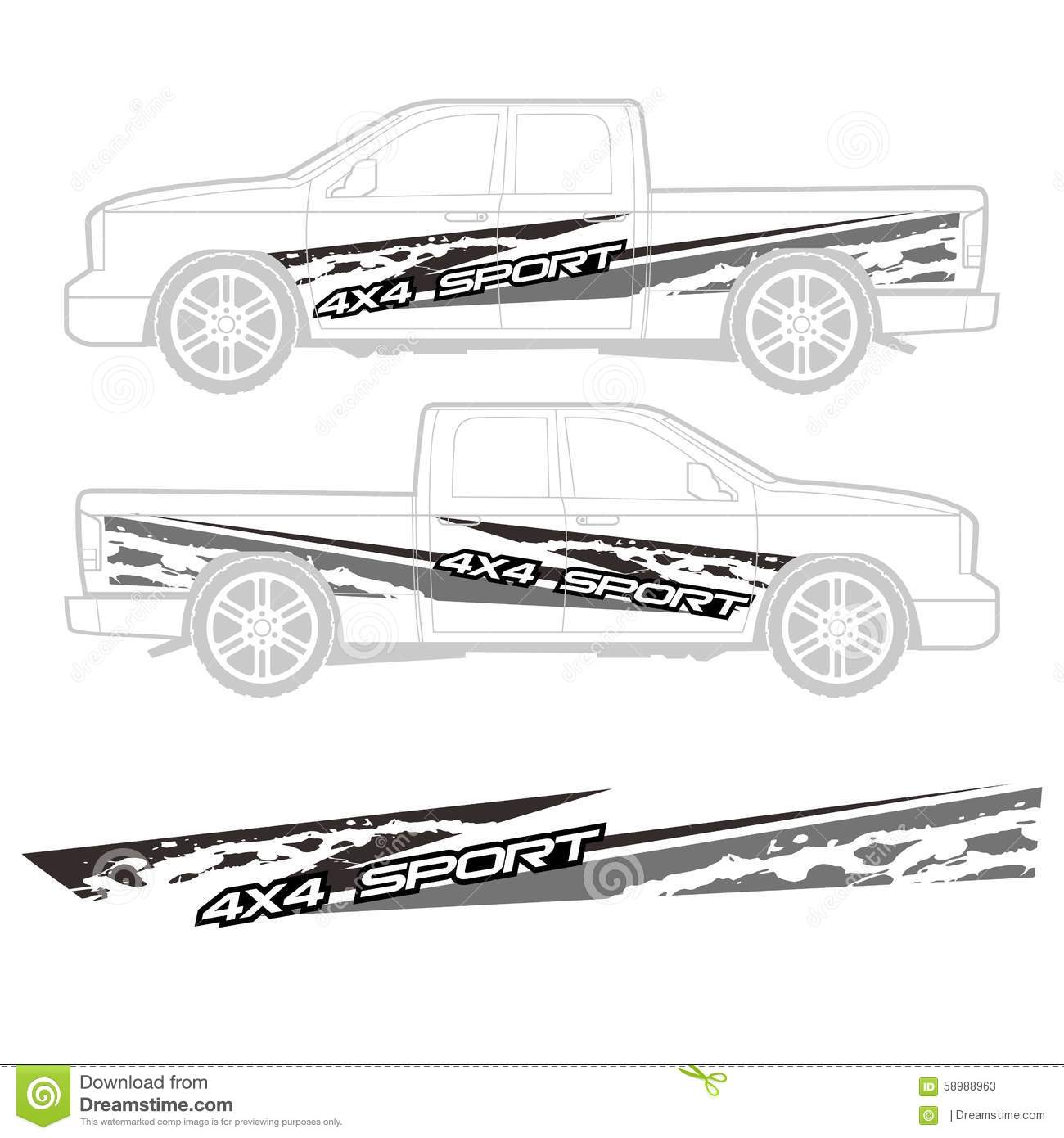 Truck And Vehicle Decal Graphic Design Stock Vector Image - Truck decal graphicstruck and vehicle decal graphic design stock vector image