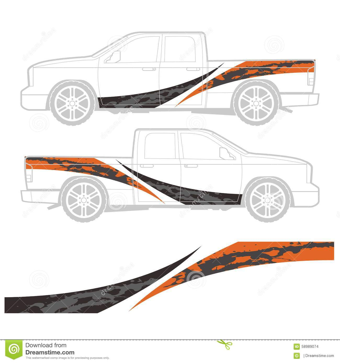 Truck And Vehicle Decal Graphic Design Stock Illustration