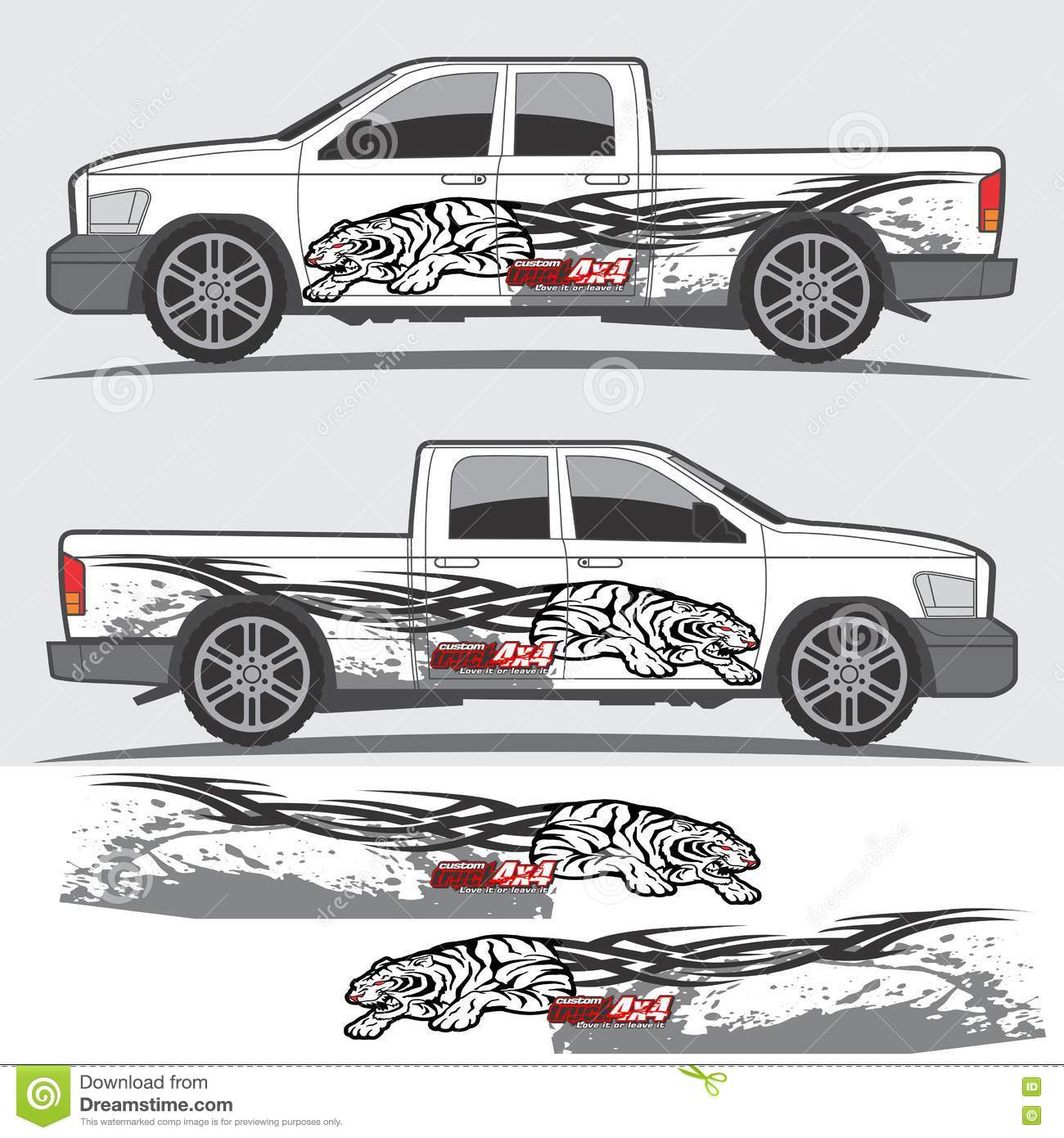 Car design sticker vector graphics - Stock Car Graphic Designs Stock Illustration Truck Vehicle Decal Graphic Design Kit Car Van Other