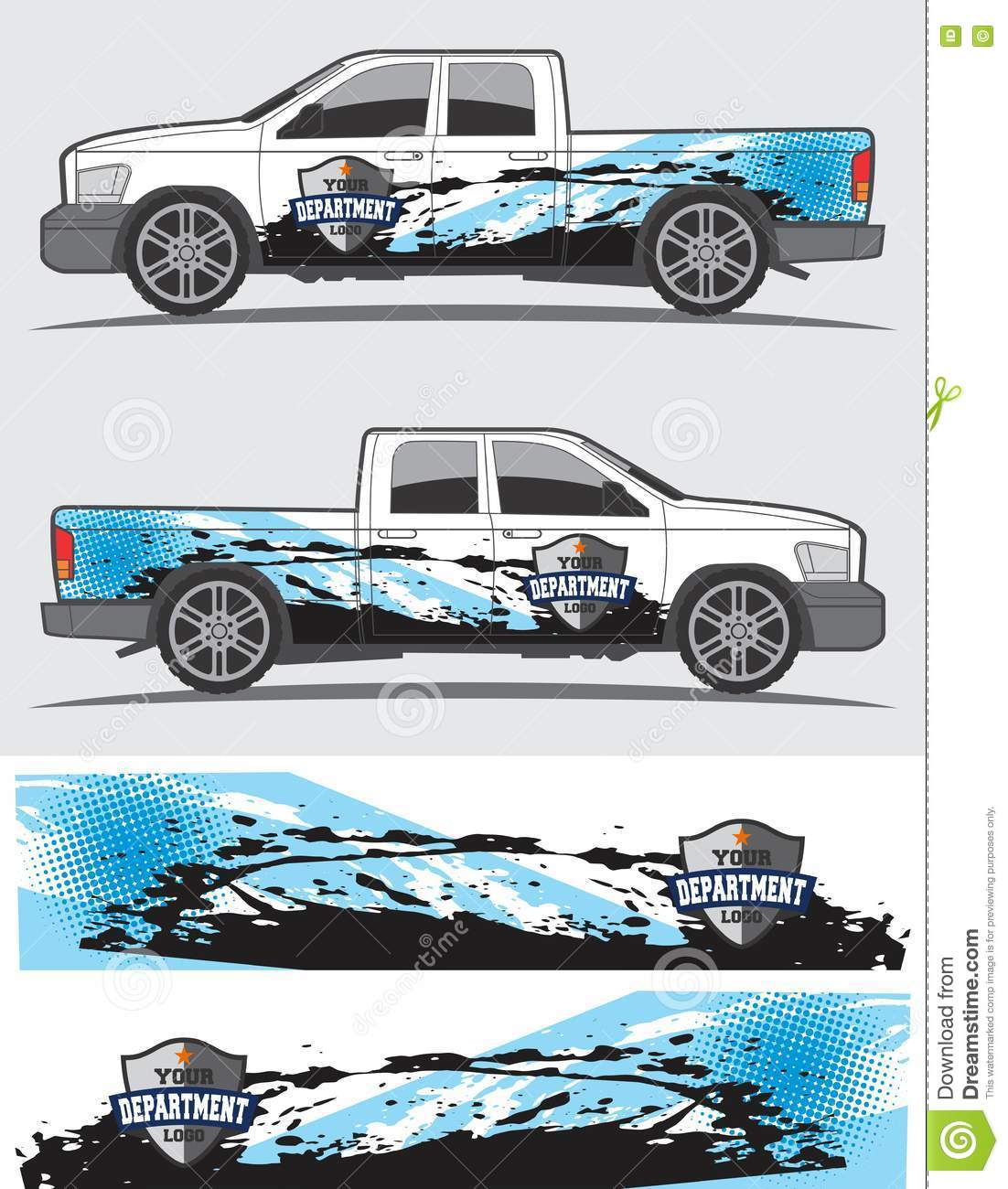 Car Sticker Design Download - Truck and vehicle decal graphic design stock illustration