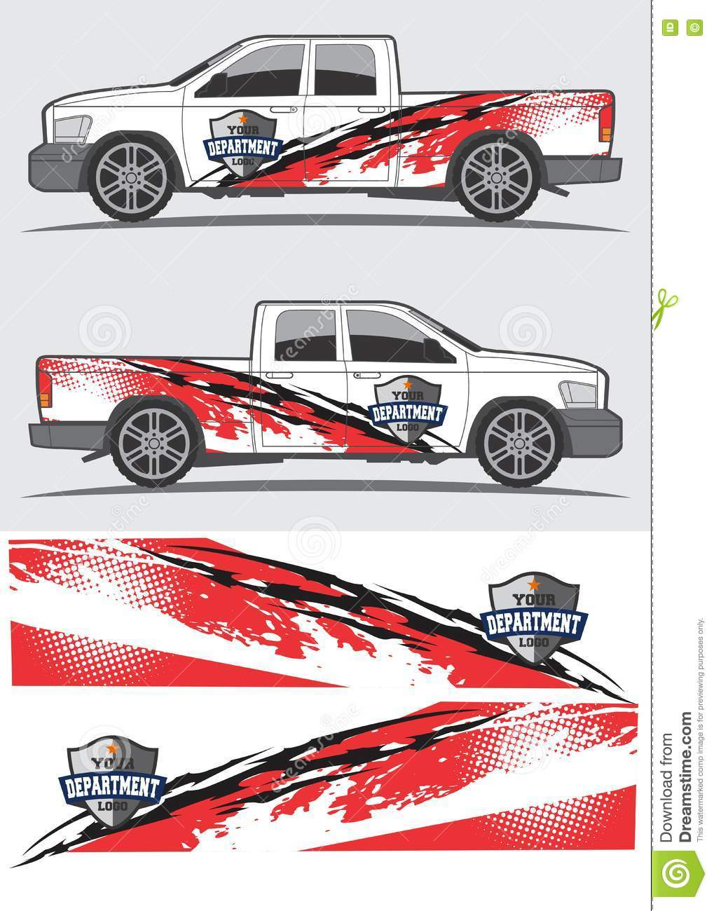 Graphic design kit for truck car van and other vehicle wrap vinyl decal sticker