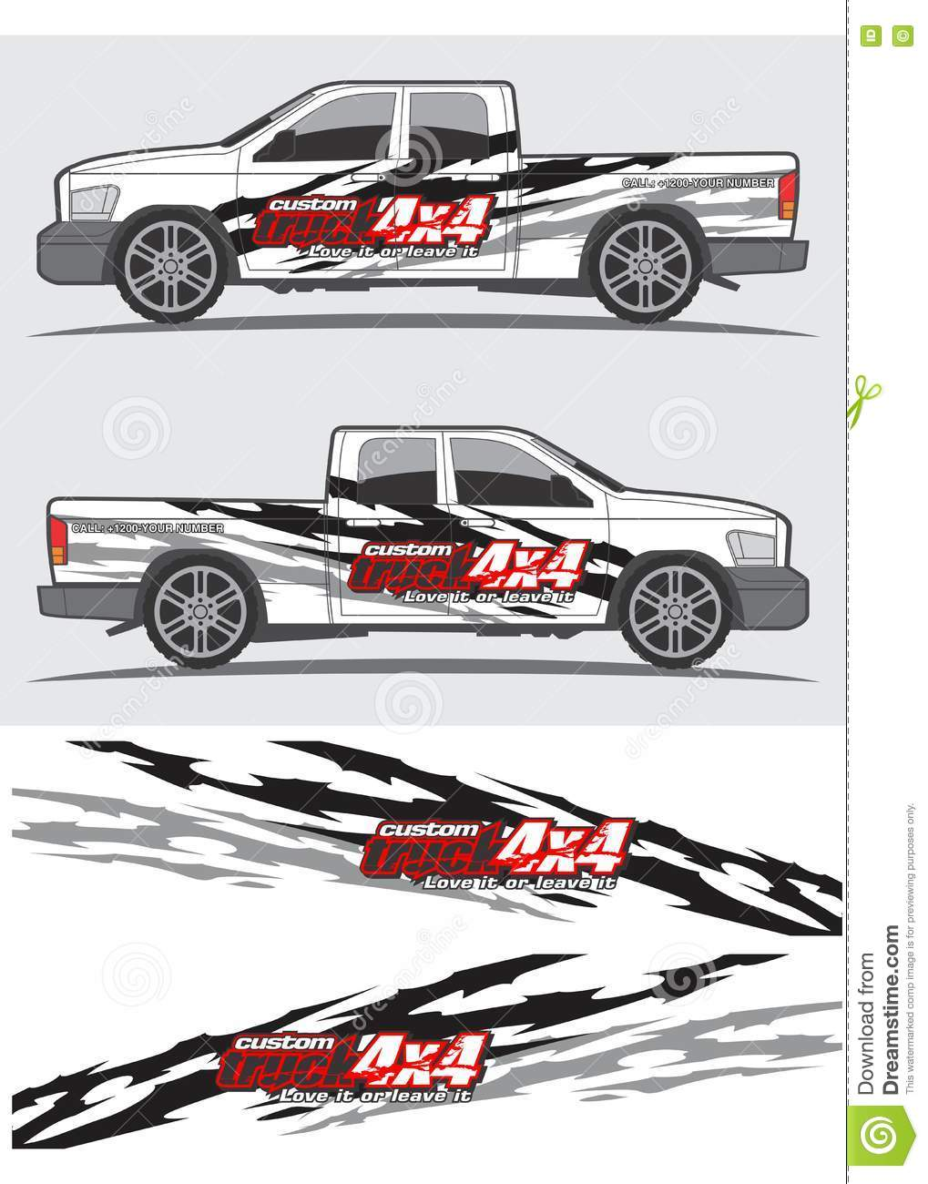 Pickup Truck Graphics And Decals