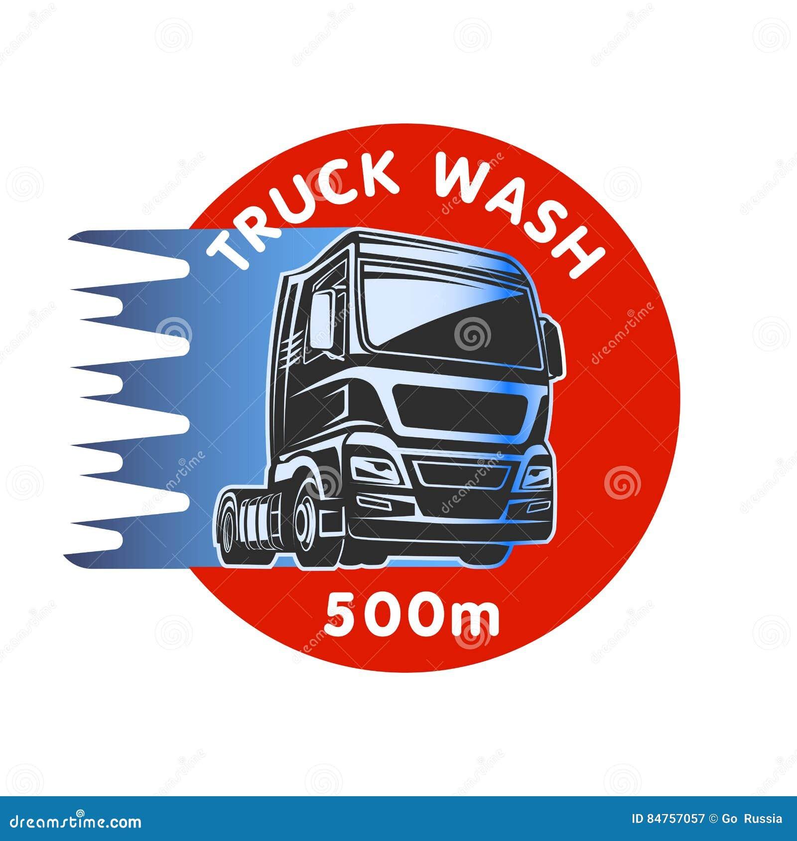 Truck Wash Cargo Freight Logo Template Stock Vector ...