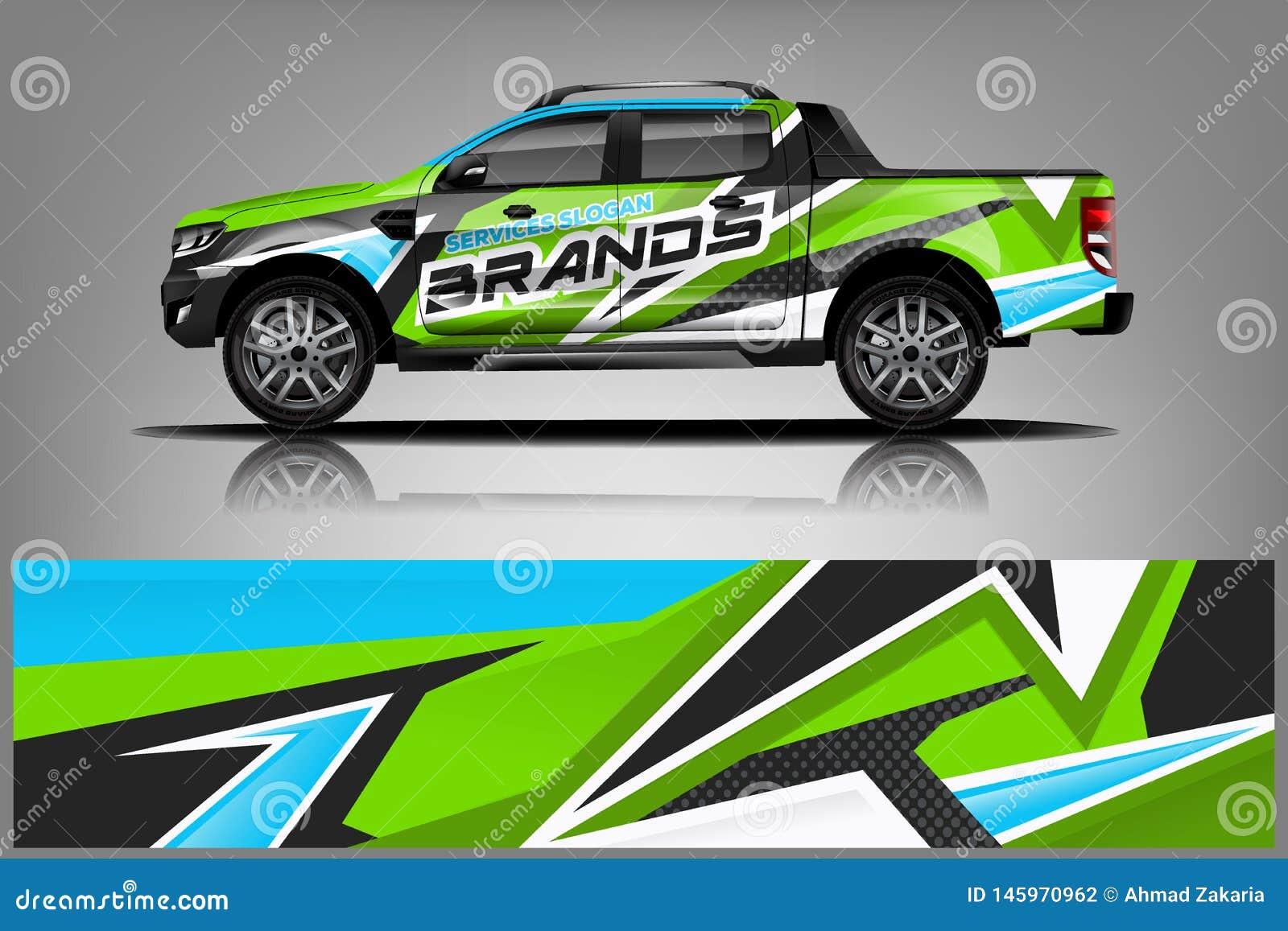 Truck Wrap Livery Design. Ready Print Wrap Design For Van ...