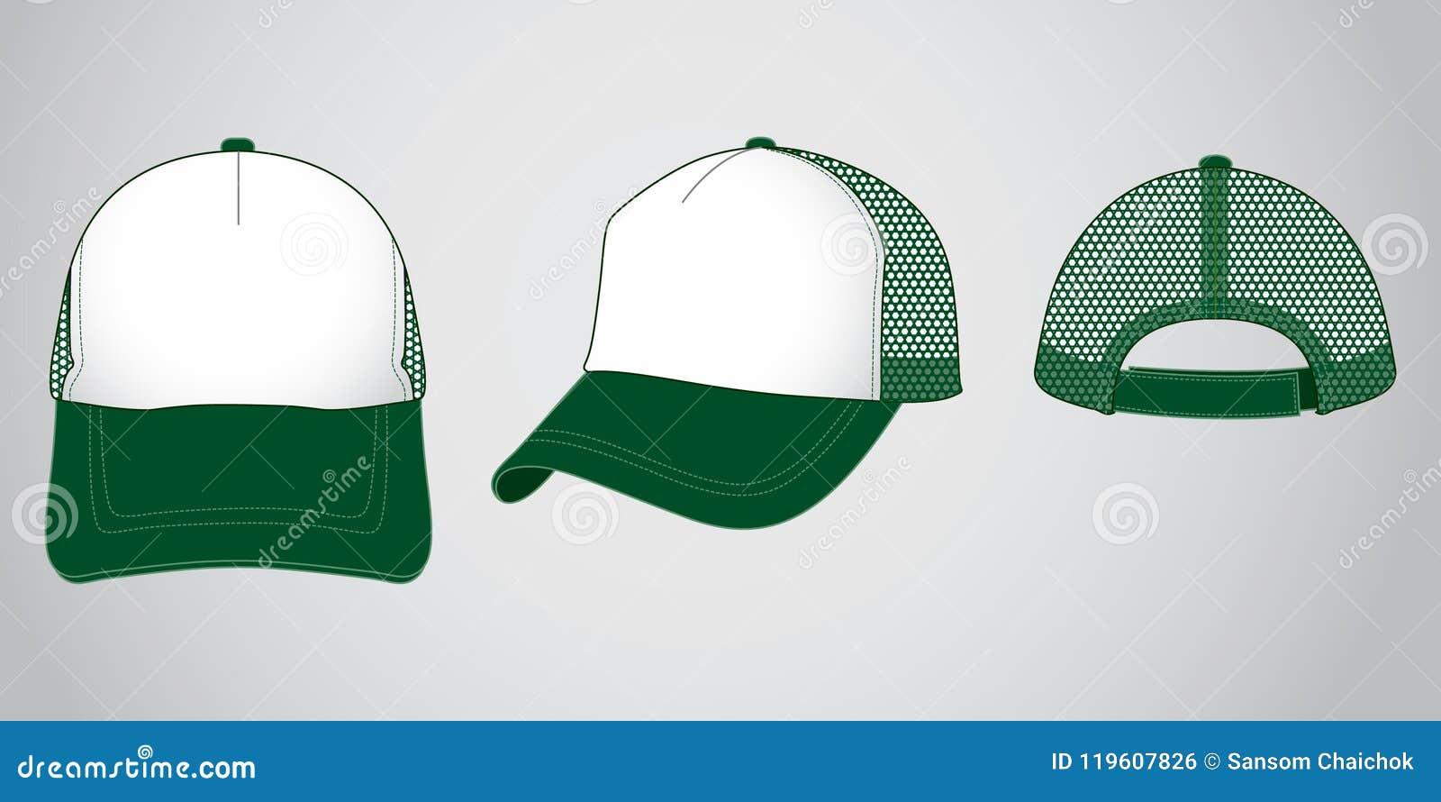 Trucker cap for template stock illustration. Illustration ...