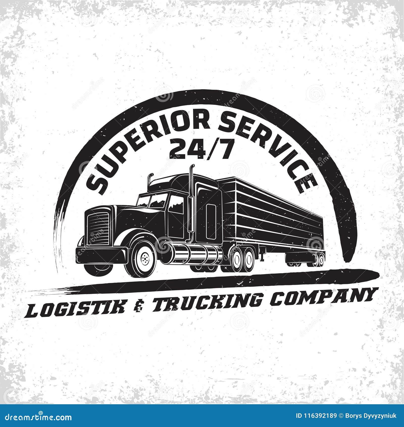 Vintage Logo Design Stock Vector. Illustration Of Logistic