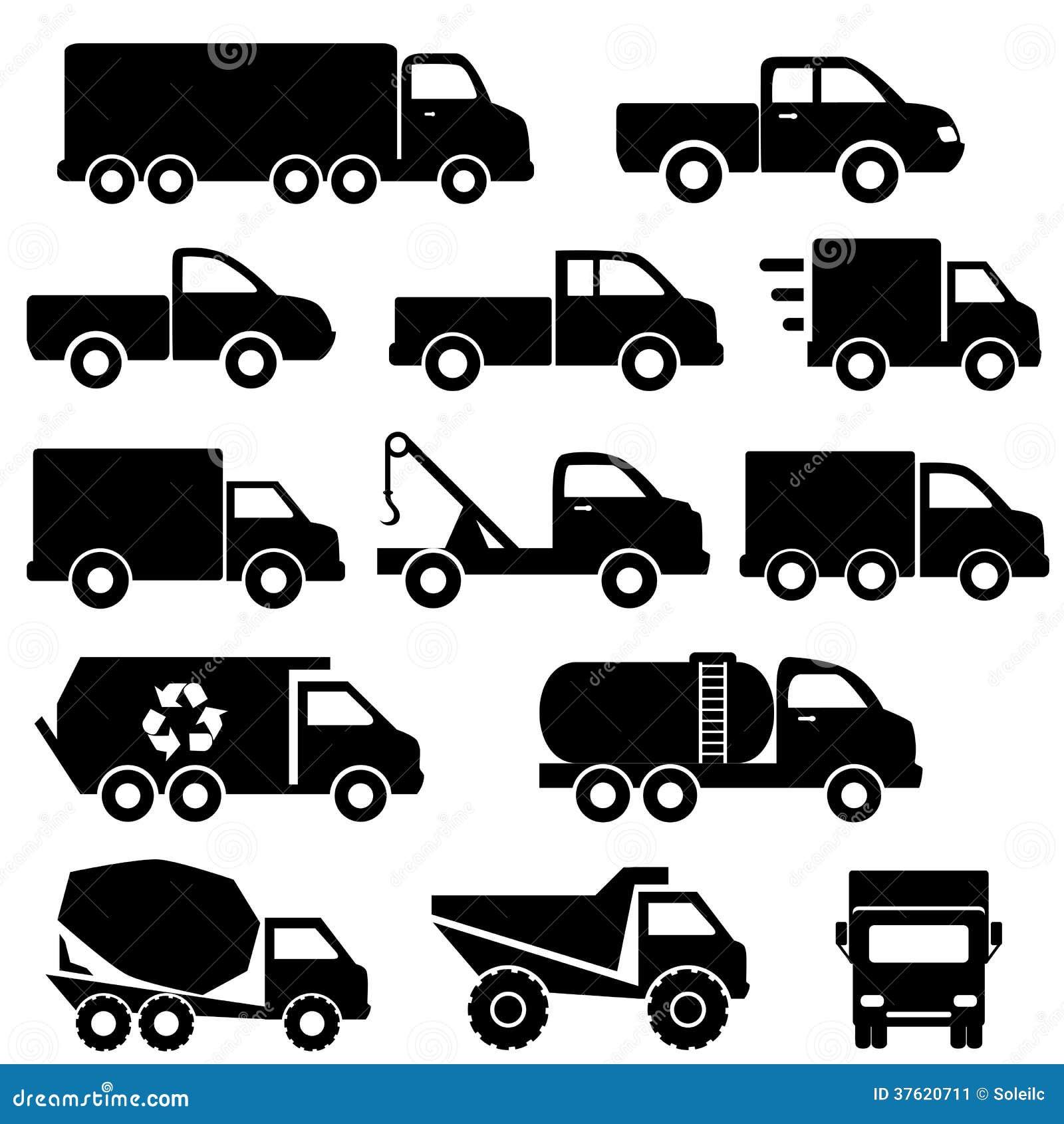 Trucks Icon Set Stock Image - Image: 37620711