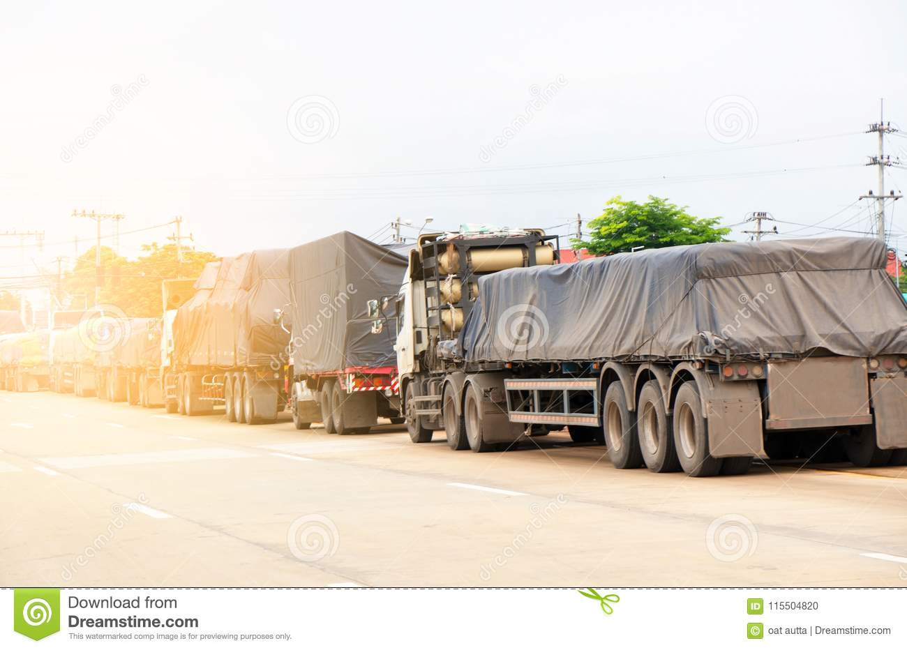 Trucks Logistic By Cargo Truck Import Export Business And
