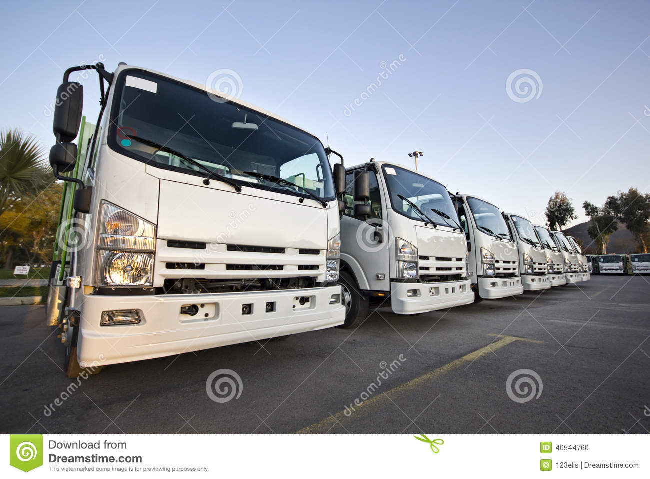Download Trucks in a row stock photo. Image of dealership, industry - 40544760