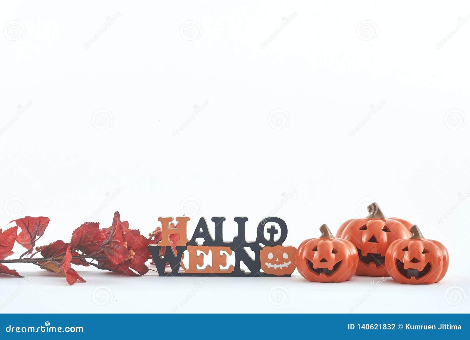 Truco o invitación de las decoraciones del partido de Halloween