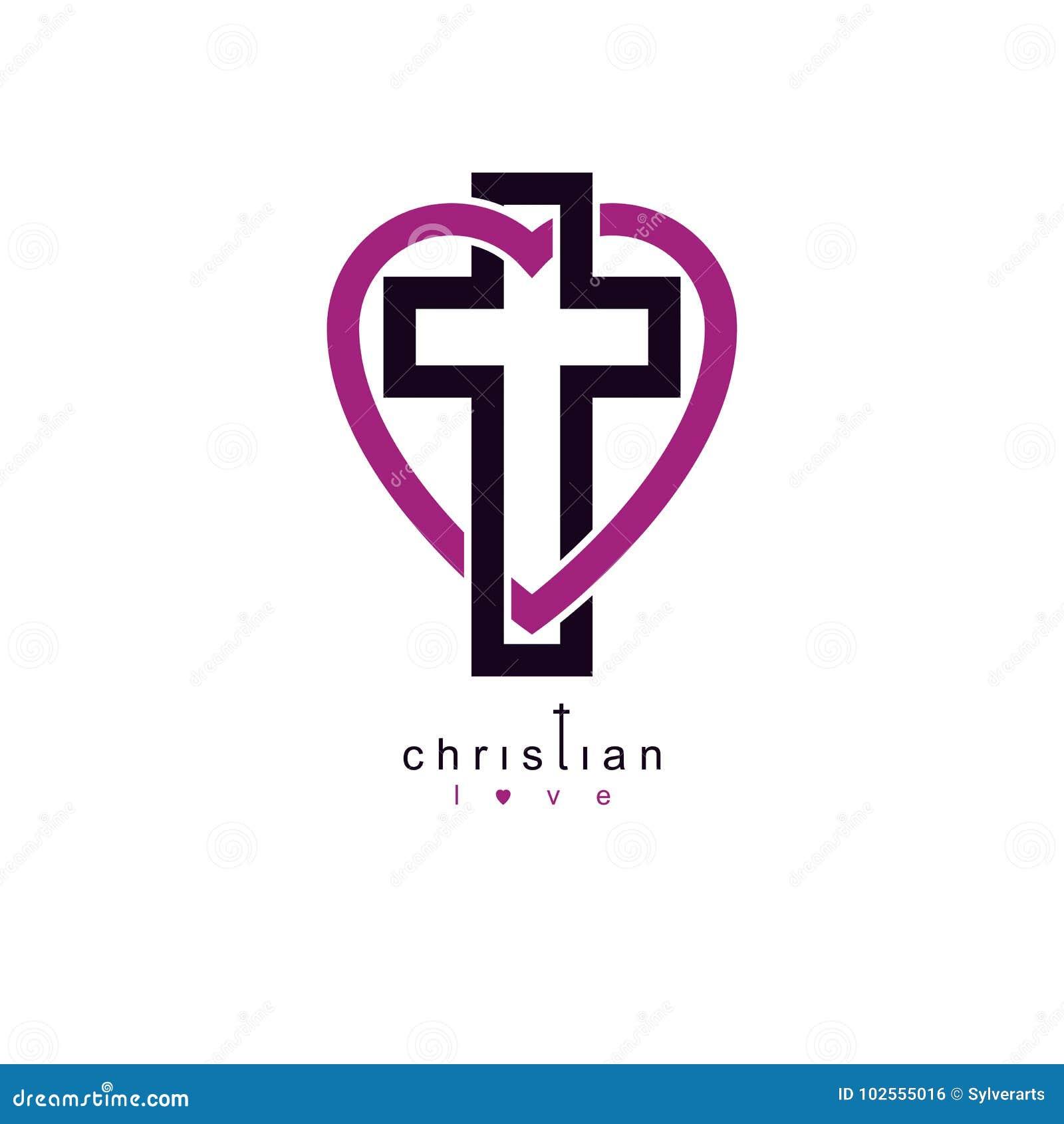 True Christian Love And Belief In God Vector Creative Symbol De