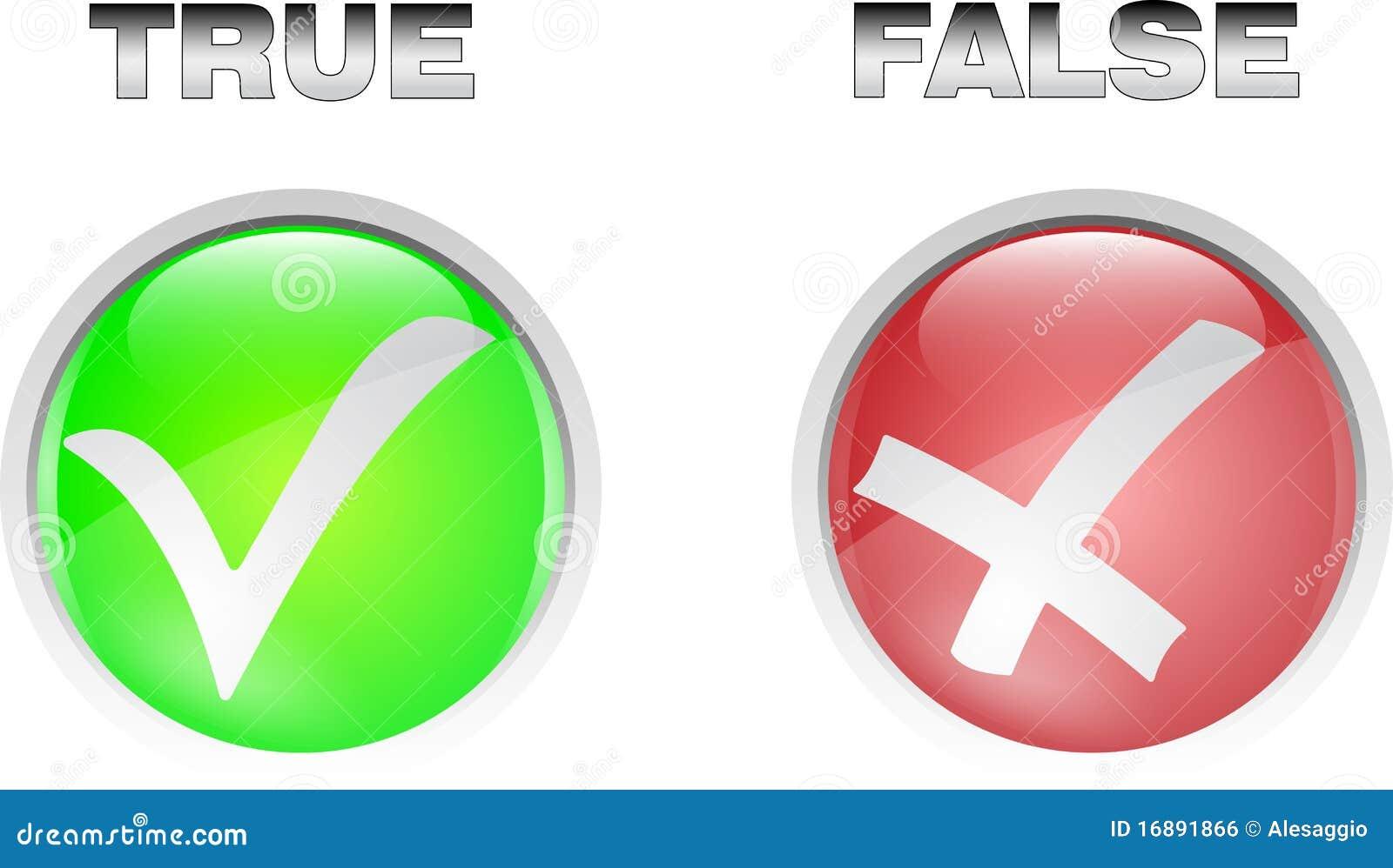 True False Button Stock Vector. Image Of Allowed, Icon