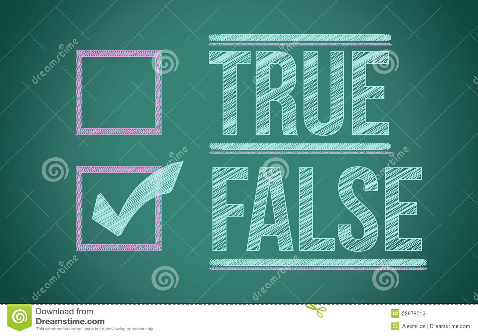 True And False Check Box Stock Photography - Image: 28678012