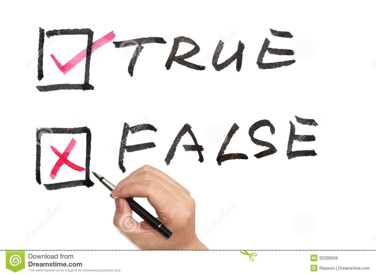 True or false royalty free stock images image 32208509