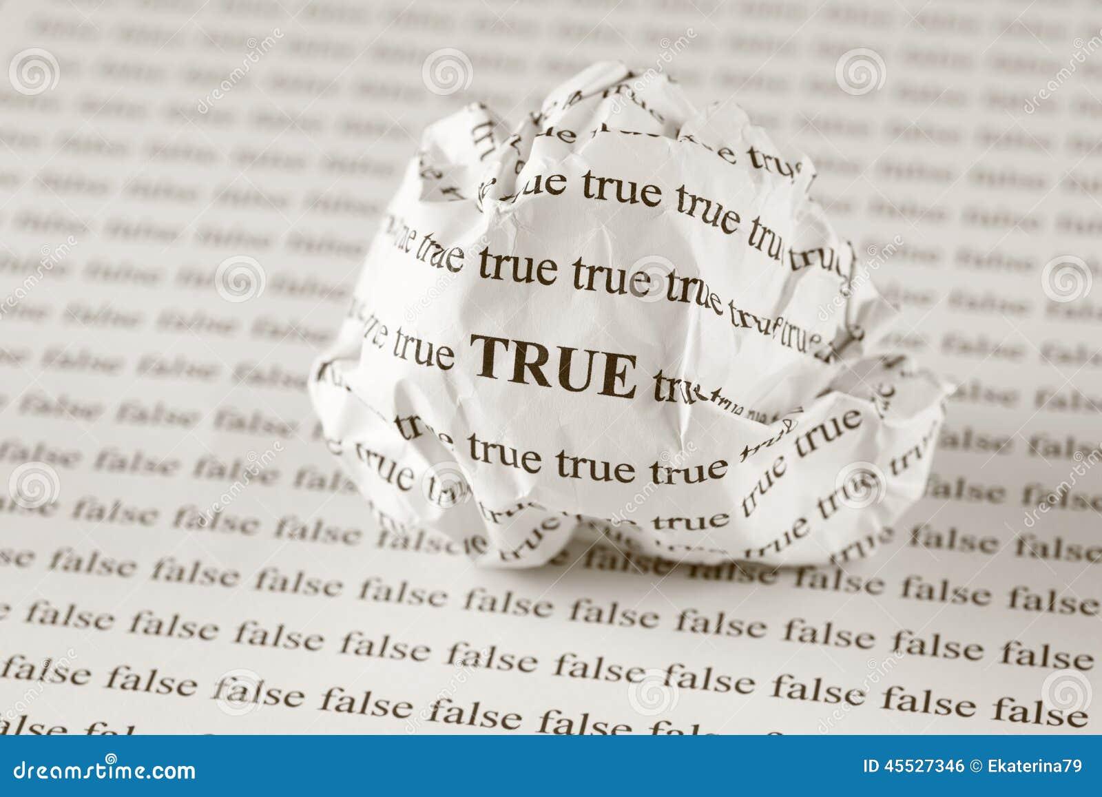 True Or False Stock Photo