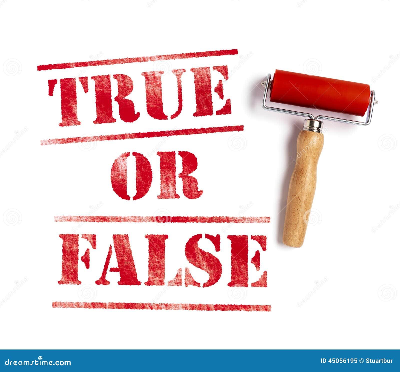 True Or False Stock Illustration