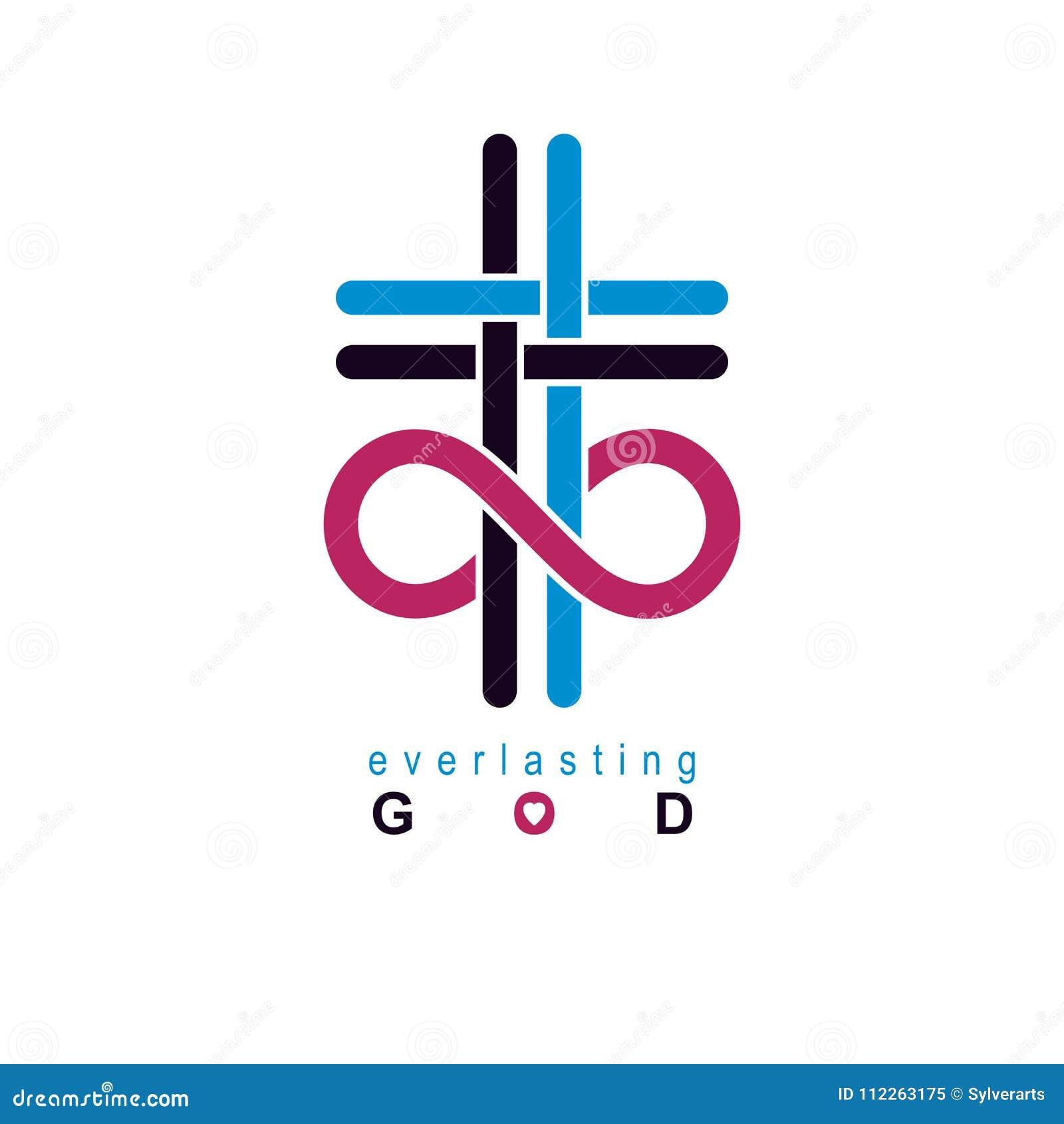 True Infinite Christian Belief In God Vector Creative Symbol De