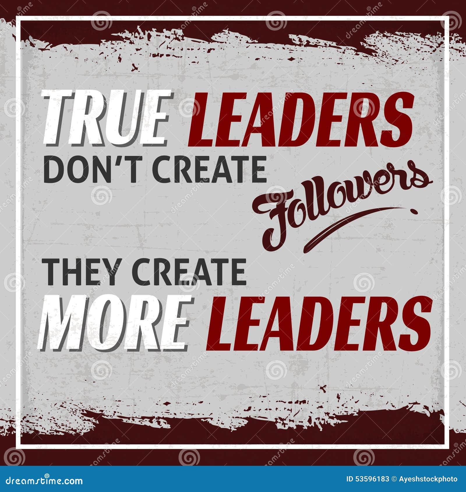 True Leaders Stock Illustration Image 53596183