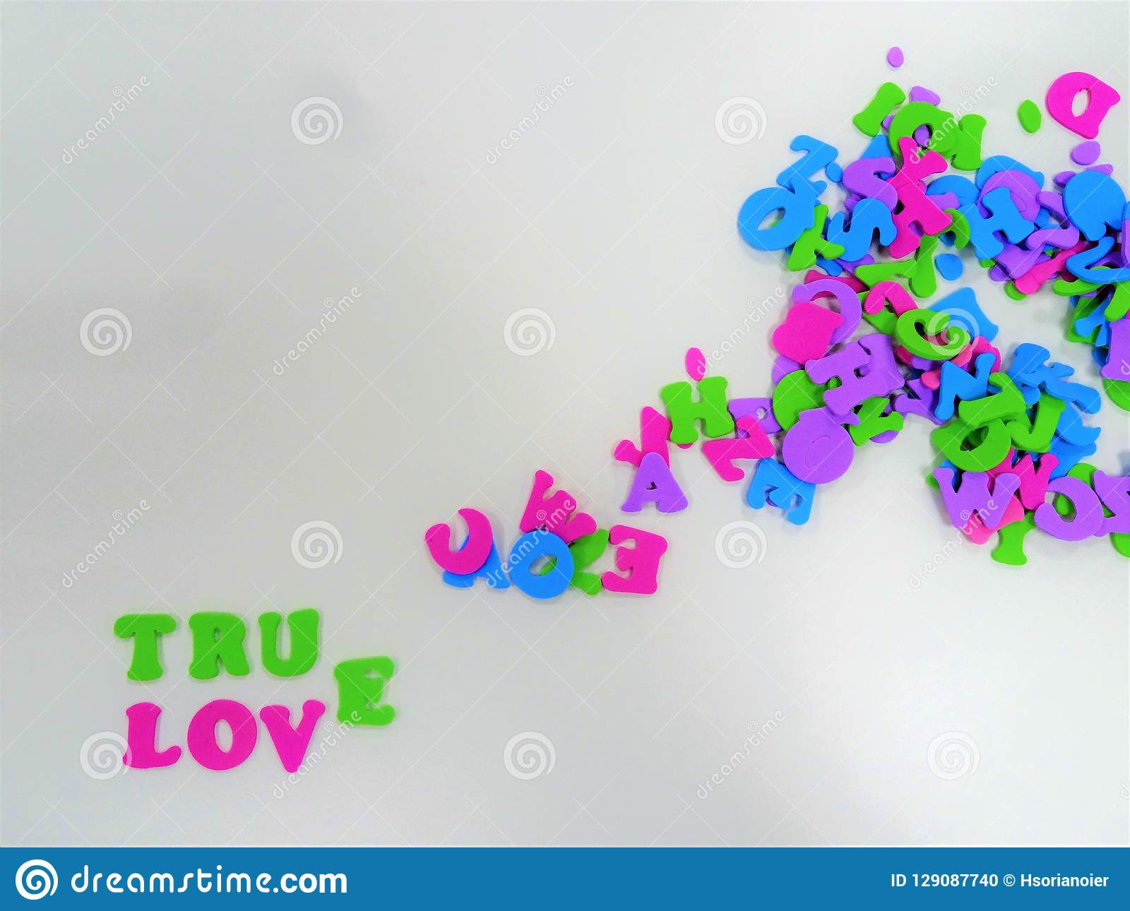 True Love Frame For Writting A Message Space For Writting Stock