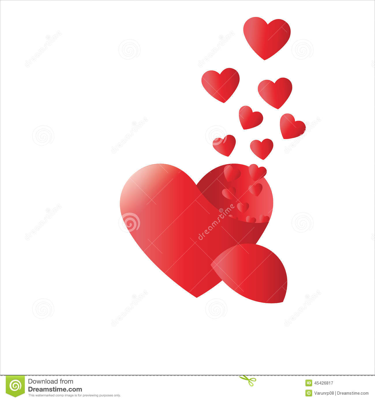 True Love Heart Valentines Vector Pure Love Forever