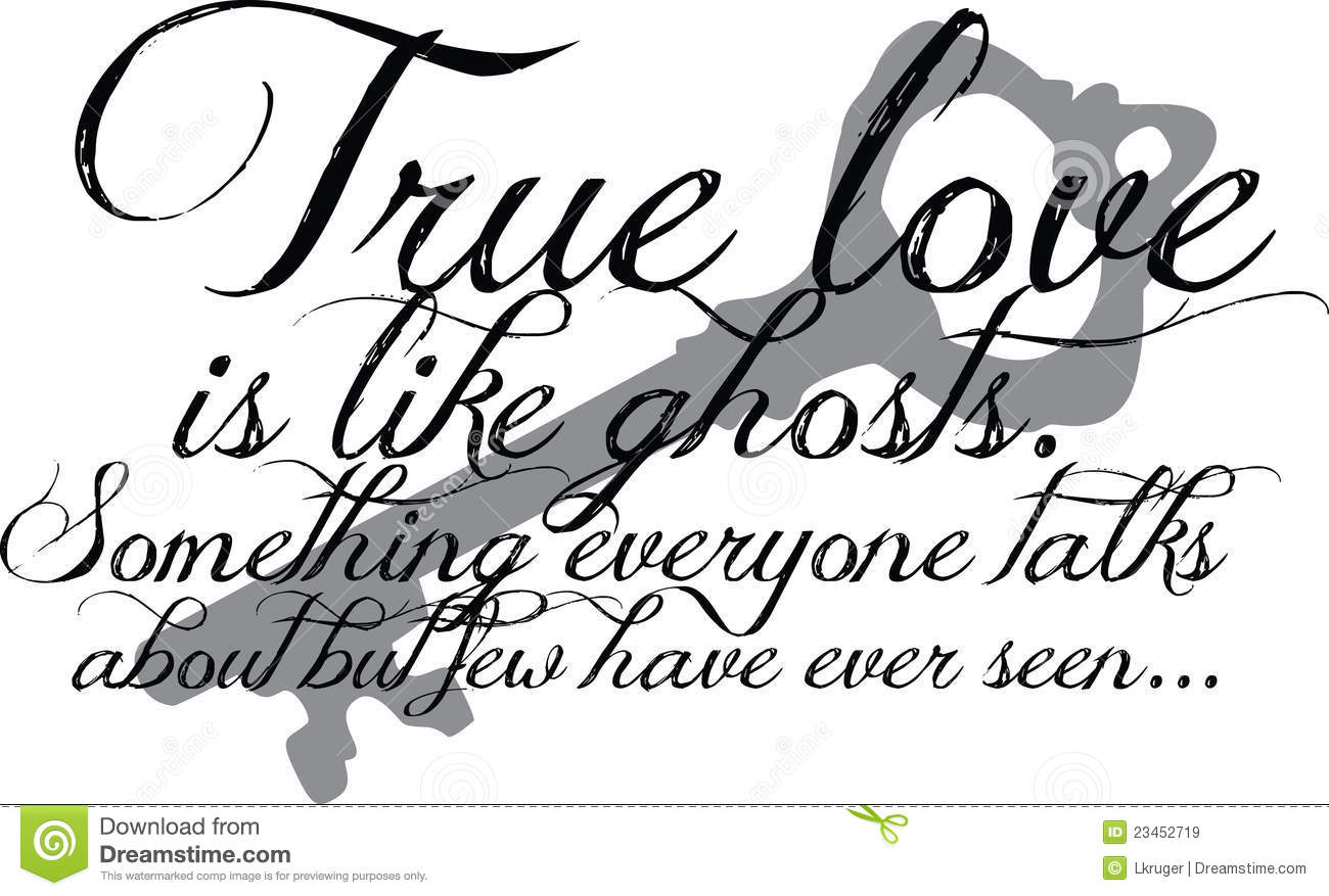 Quotes About True Love True Love Quote With Key Stock Vectorillustration Of Skeleton
