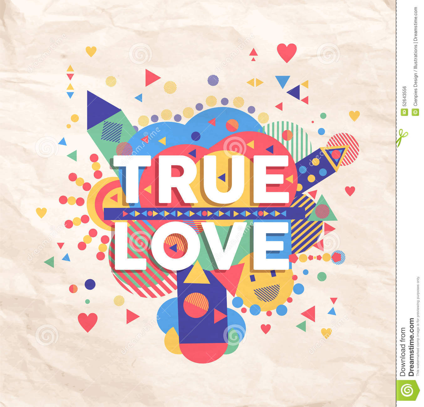 True Love Quote Poster Design Illustration 52643556 Megapixl