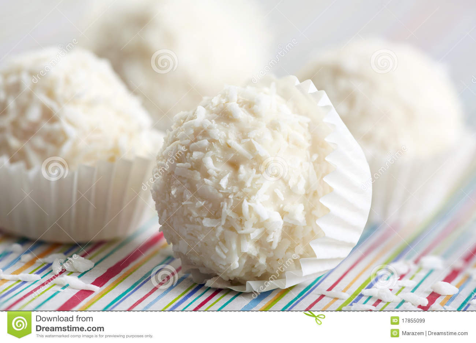 Trufas de chocolate blancas