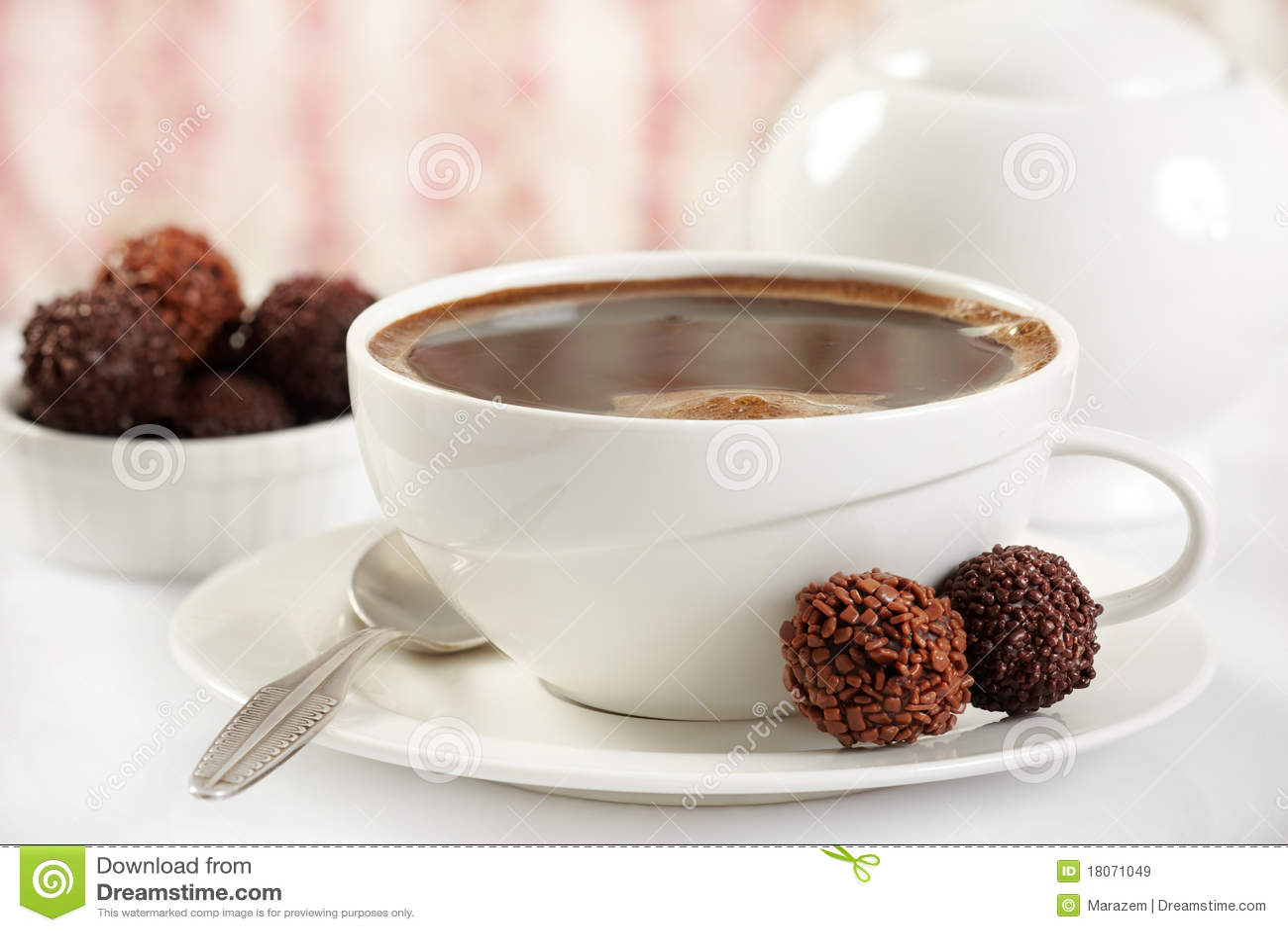 Trufas del café y de chocolate