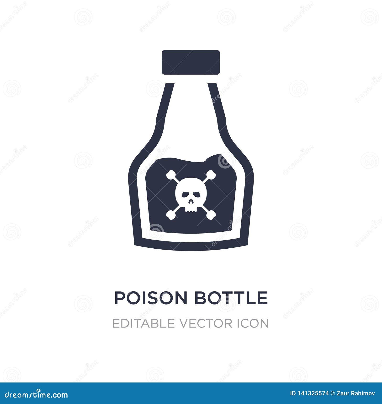 Truje butelkę z czaszki ikoną na białym tle Prosta element ilustracja od Medycznego pojęcia