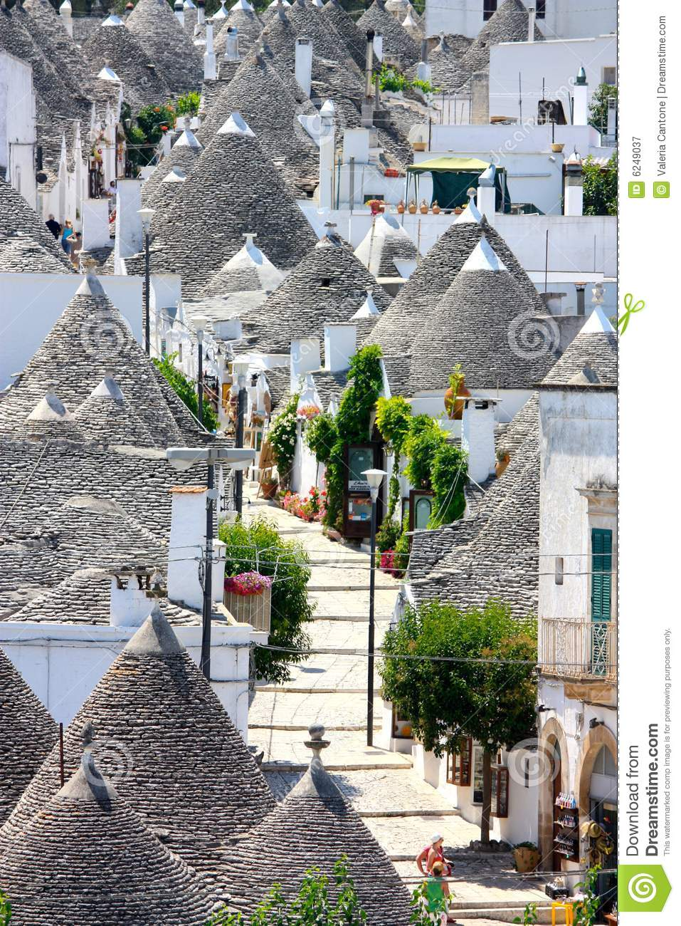 Trulli Aerial View Alberobello Italy Stock Image Image Of Traditional Italy 6249037