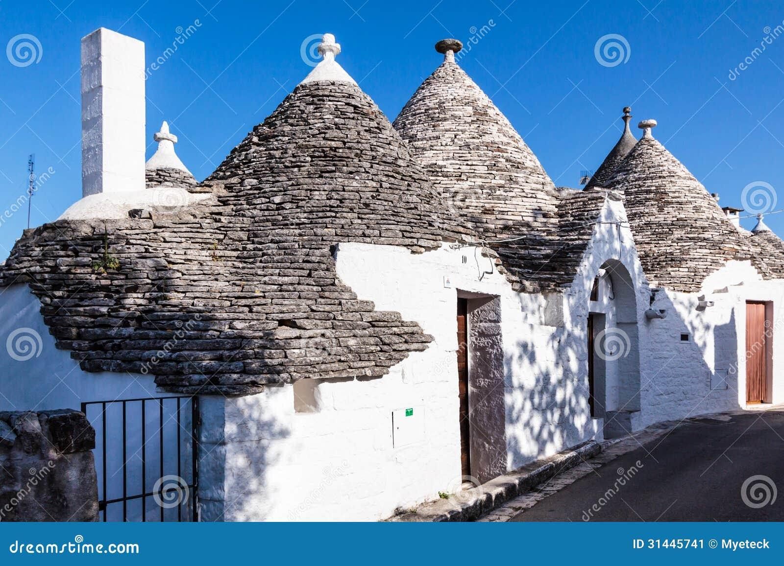Trulli Houses In Alberobello Italy Stock Image Image