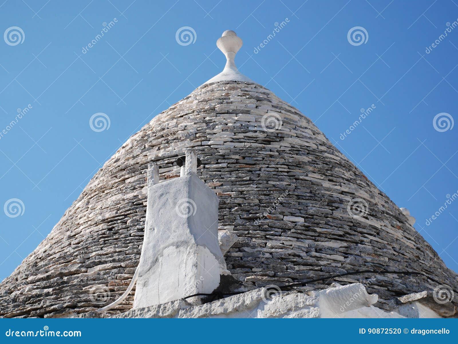 Trullo Roof with Chimney, Alberobello