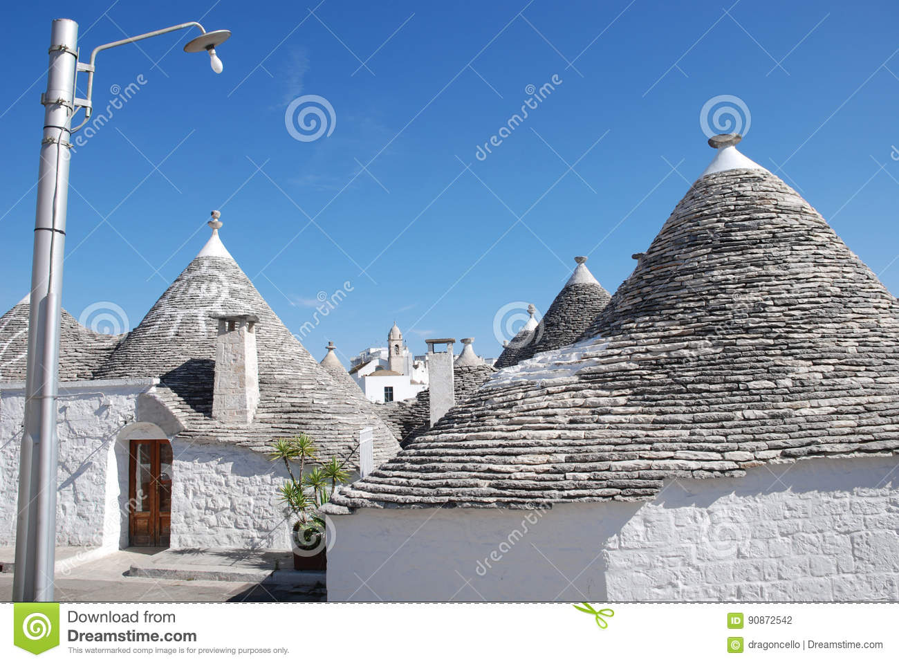 Trullo Roof with Christian Symbol