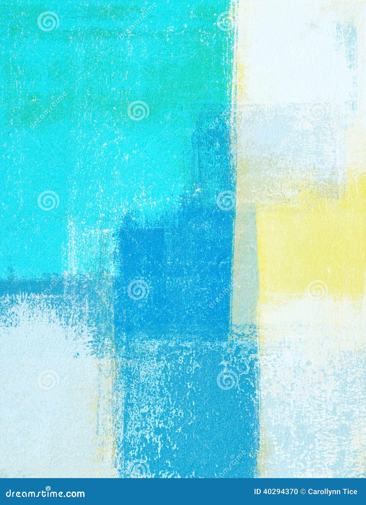 Trullo y amarillo Art Painting abstracto