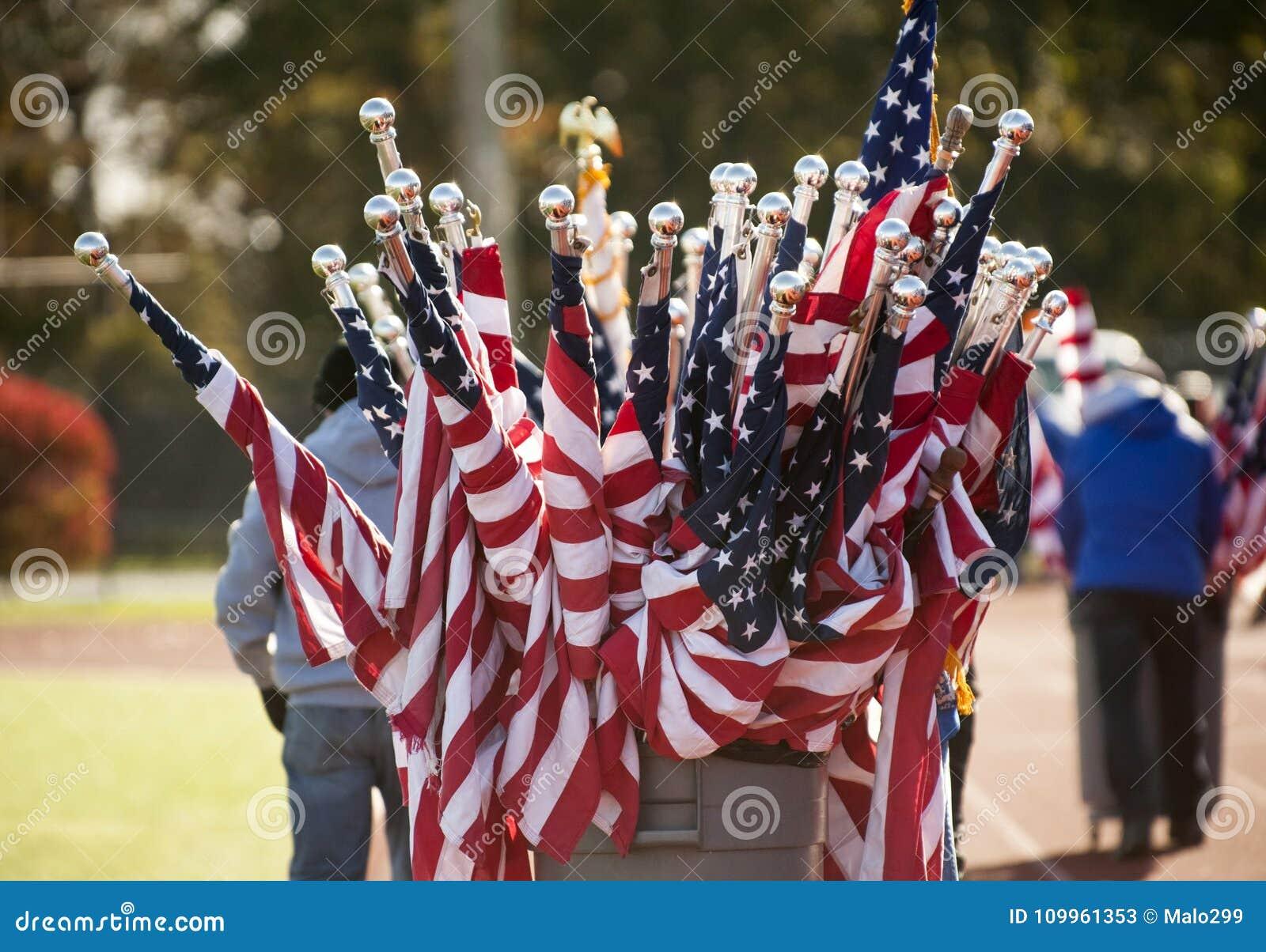 Trumma mycket av amerikanska flaggan