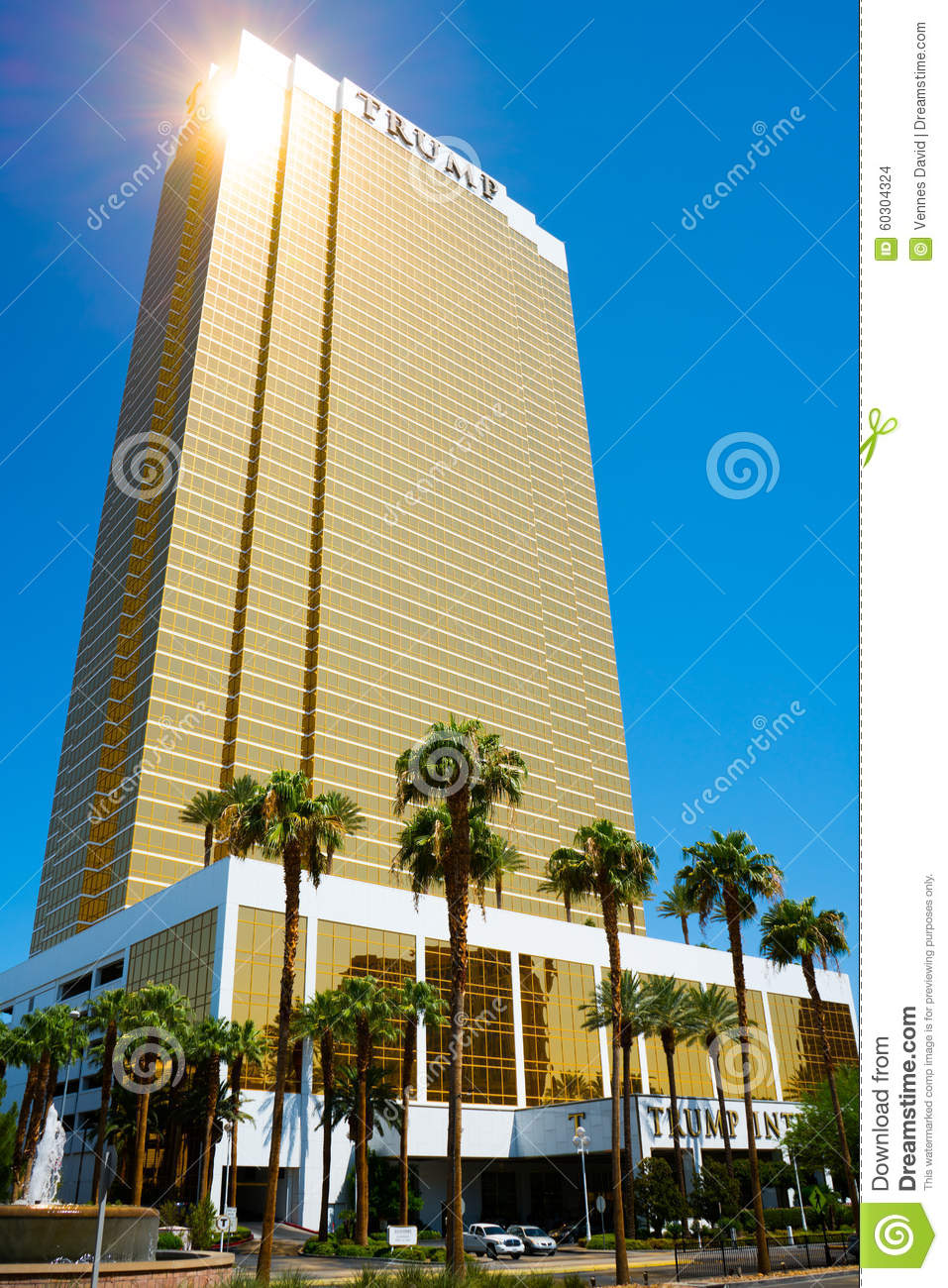 stock photo trump tower vegas