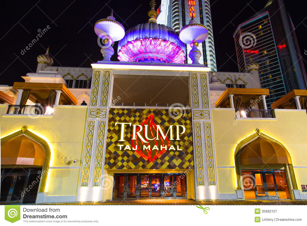 Trump Taj Mahal Atlantic City Editorial Photography ...