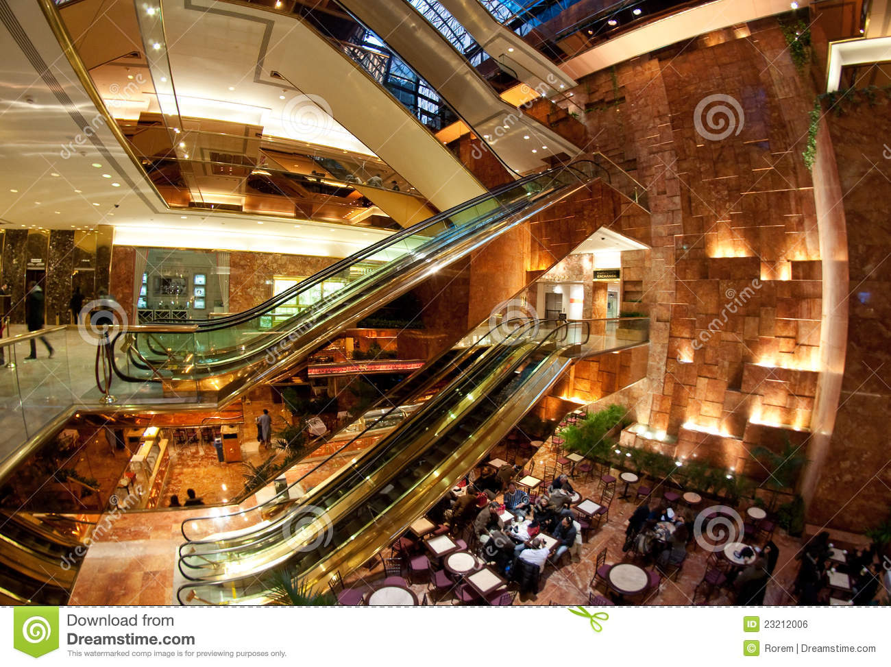 Trump Tower Atrium Editorial Photo Image Of Travel