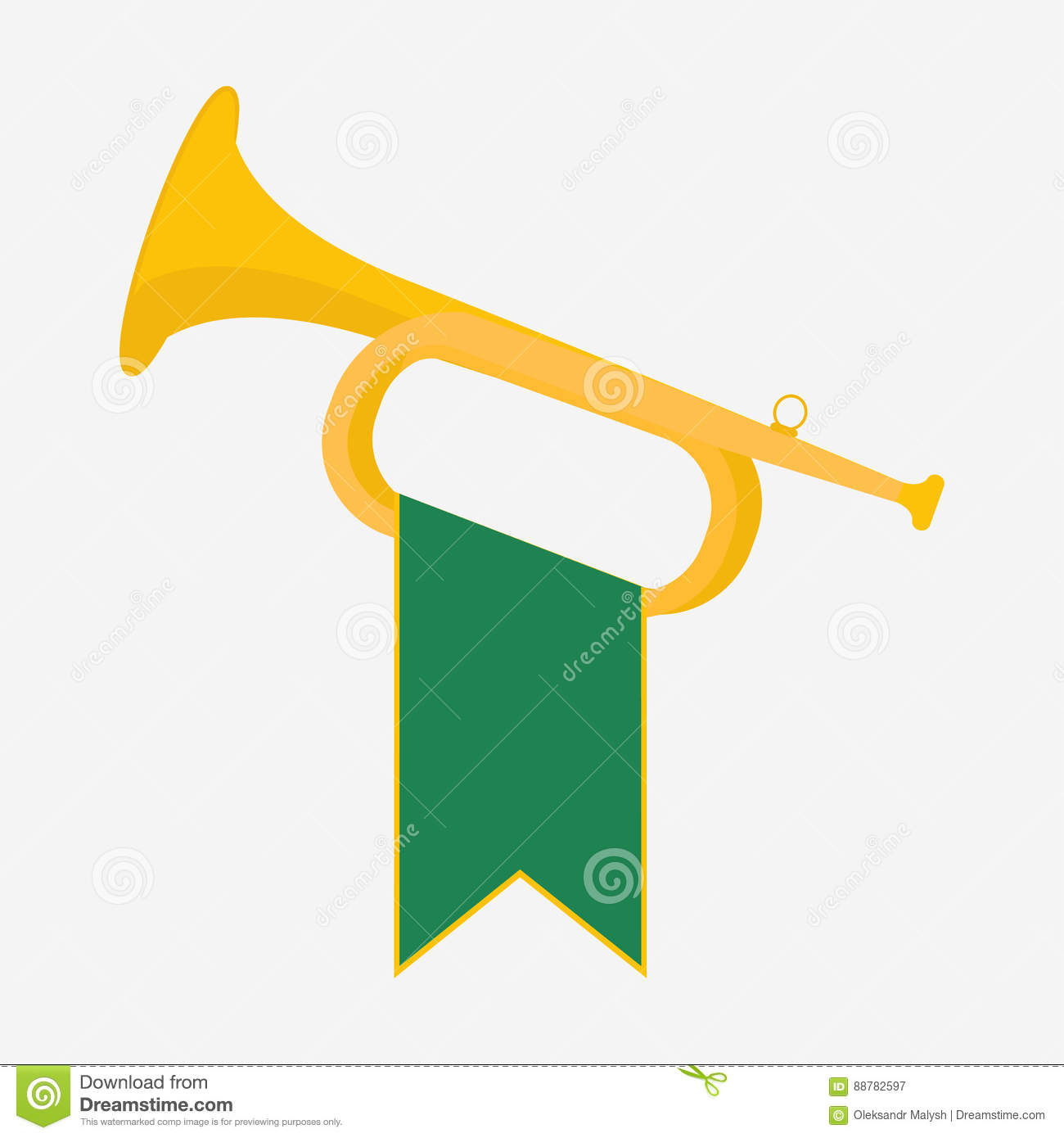 Trumpet with green
