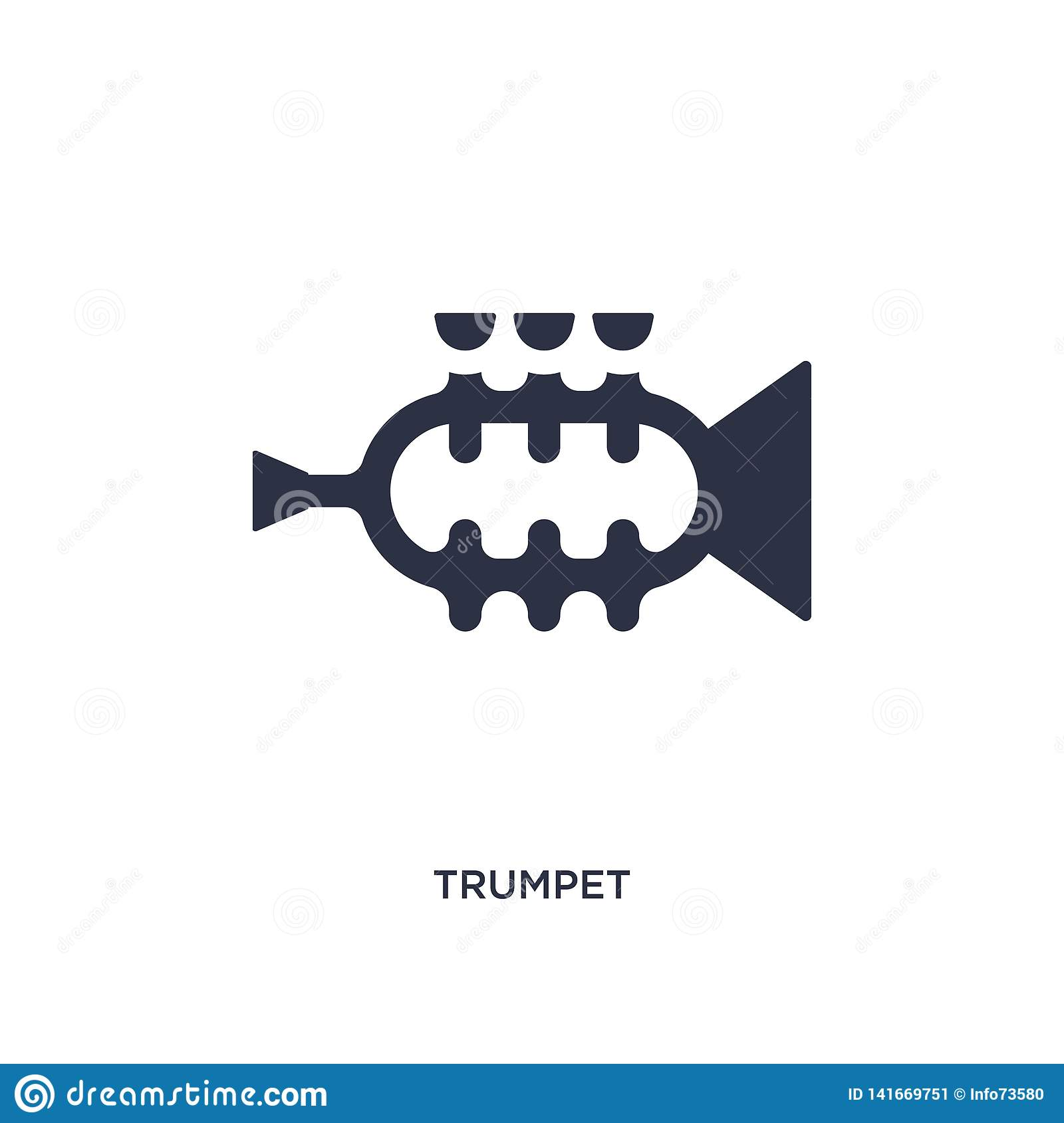 trumpet icon on white background. Simple element illustration from brazilia concept