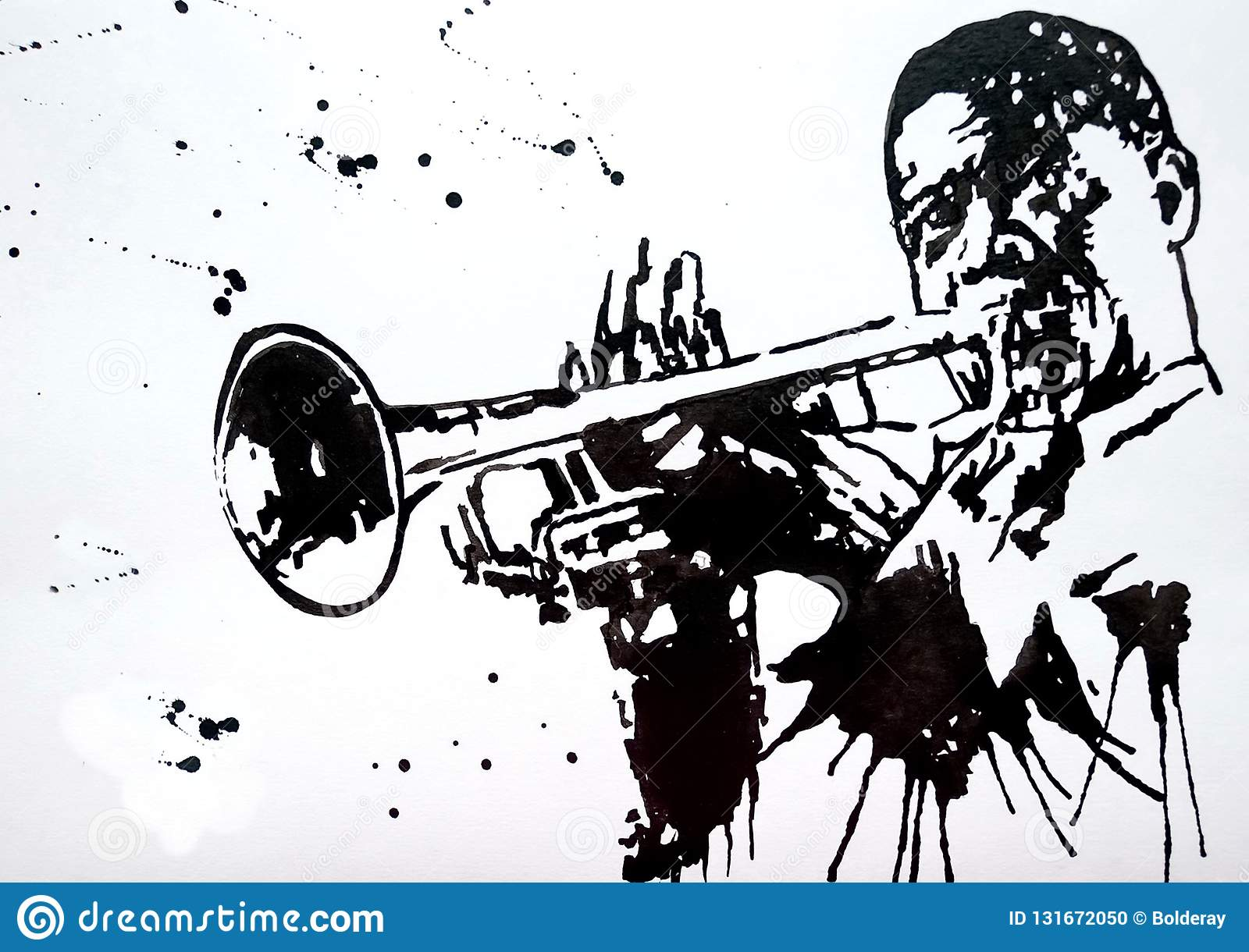 Trumpeter Jazz Band Jazz Swing Orchestra Silhouettes