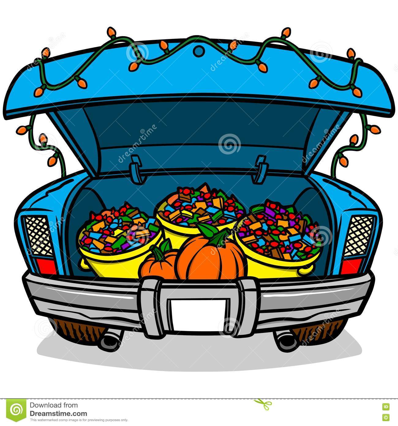 Trunk Or Treat stock vector. Illustration of fall ...