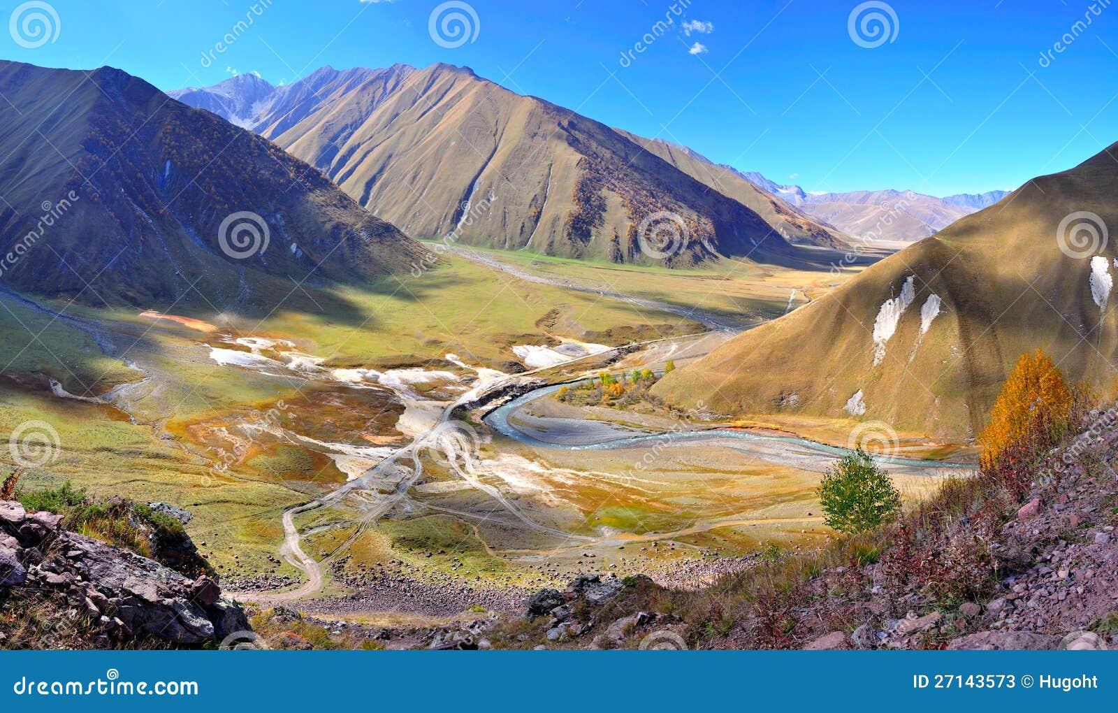Truso Valley Trek Kazbegi Georgia Stock Photos Image - Georgia kazbegi map