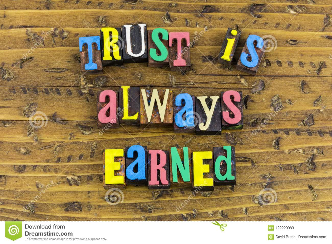 Trust earned honesty support