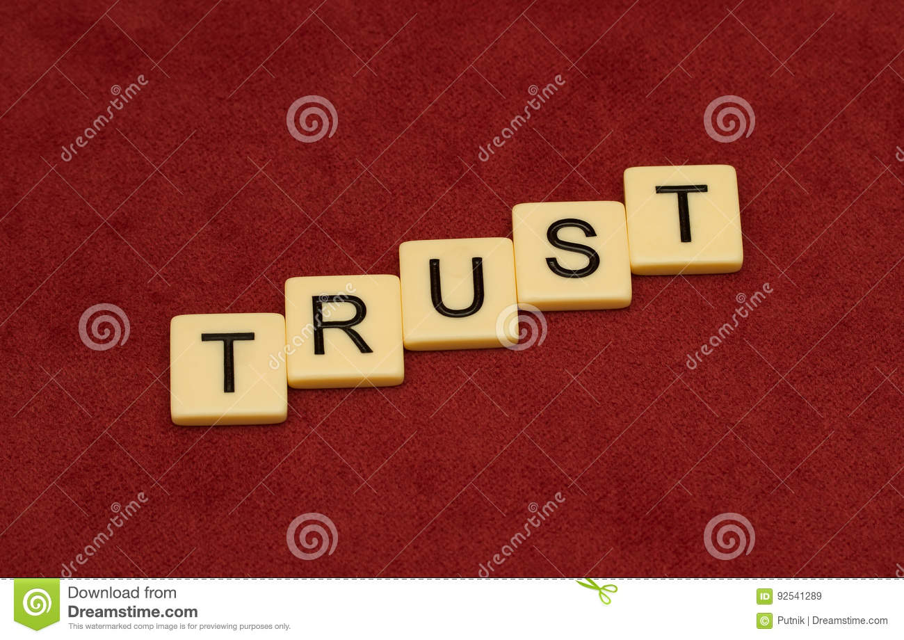 Trust Sign Stock Image Image Of Letter Religion Loyalty 92541289