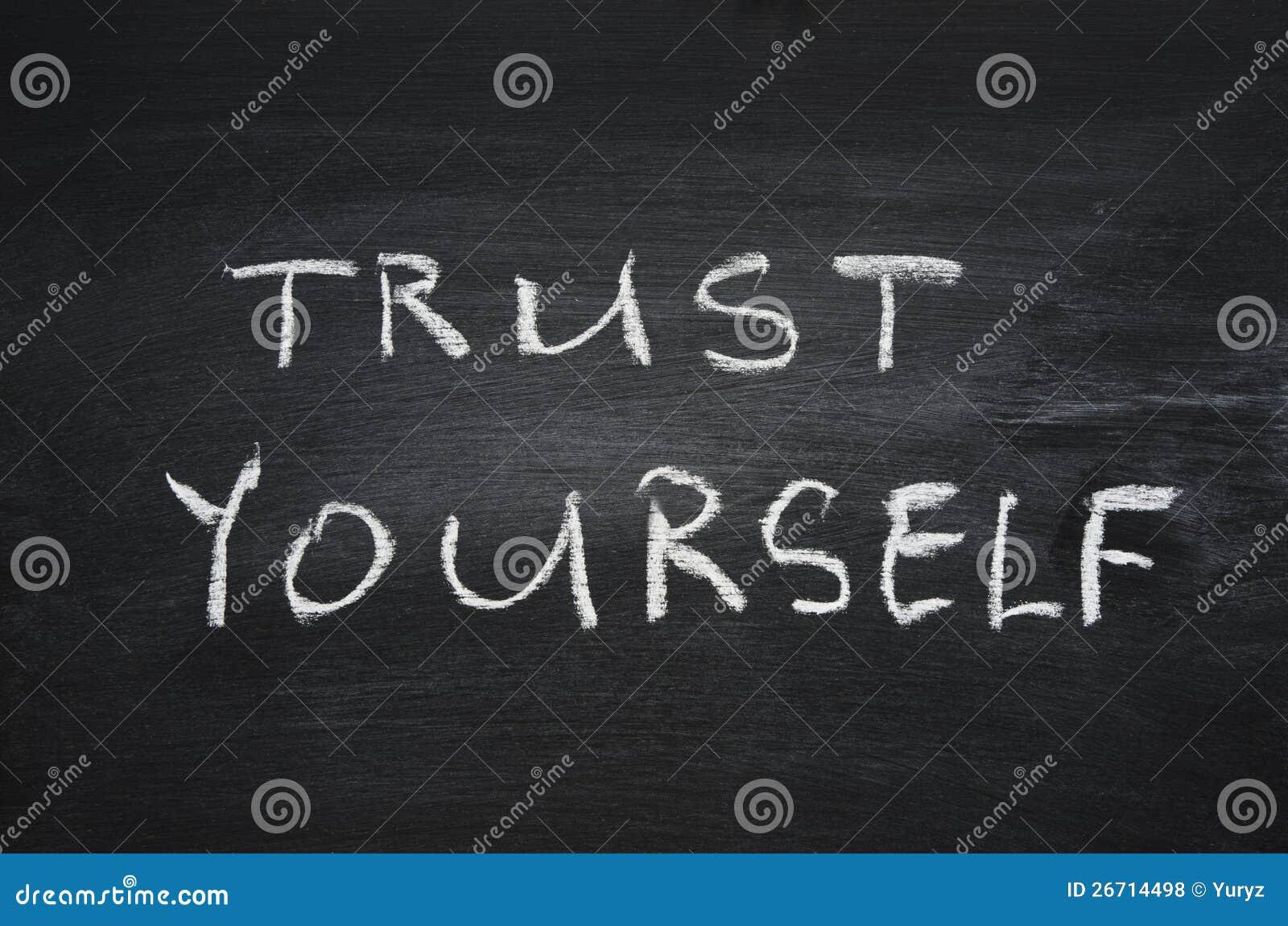 trust yourself stock photo  image of black  school  white
